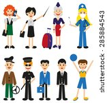 illustration men and women of... | Shutterstock .eps vector #285884543
