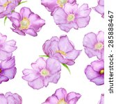 Vector Seamless Brier Roses...