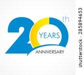 template logo 20th anniversary...