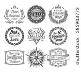 finest quality vintage graphics ... | Shutterstock .eps vector #285903773
