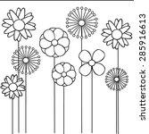 abstract vector flower pattern. ... | Shutterstock .eps vector #285916613