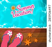 summer vacation background | Shutterstock .eps vector #285936497