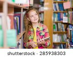 young girl using a tablet... | Shutterstock . vector #285938303