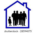 family silhouette | Shutterstock . vector #28594075