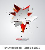 vector abstract geometric... | Shutterstock .eps vector #285951017