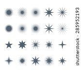 various stars collection | Shutterstock .eps vector #285952193