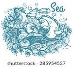 summer vacation. sea  beach ... | Shutterstock .eps vector #285954527