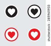 heart icon black and red... | Shutterstock . vector #285965933