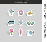 vector graphic colored icon... | Shutterstock .eps vector #285971183