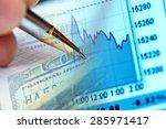 finance data and money.... | Shutterstock . vector #285971417