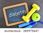 diabetes and self care concept.   Shutterstock . vector #285975647