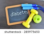 diabetes and self care concept. | Shutterstock . vector #285975653