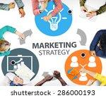 marketing strategy branding... | Shutterstock . vector #286000193