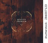vintage frame for luxury logos  ... | Shutterstock .eps vector #286007123