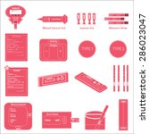 medical icons set pink and white | Shutterstock .eps vector #286023047