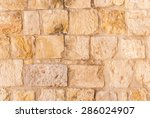 Old Wall Made Of The Jerusalem...