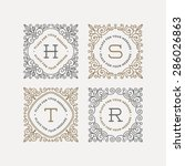 set of monogram logo template... | Shutterstock .eps vector #286026863