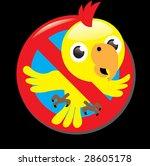 sign stop parrot | Shutterstock .eps vector #28605178