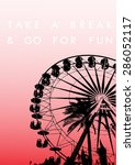 fun fair and palm tree... | Shutterstock .eps vector #286052117