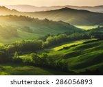 Beautifully Illuminated Landscape Tuscany - Fine Art prints