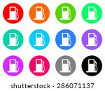 fuel vector web icons set | Shutterstock .eps vector #286071137
