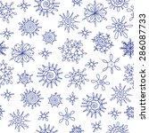 vector hand drawn christmas... | Shutterstock .eps vector #286087733
