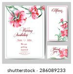 wedding invitation card set... | Shutterstock .eps vector #286089233