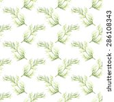 seamless pattern with dill.... | Shutterstock .eps vector #286108343