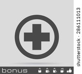 medical cross icon | Shutterstock . vector #286111013