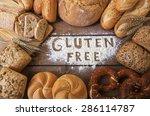 a gluten free breads on wood... | Shutterstock . vector #286114787