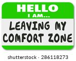 hello i am leaving my comfort... | Shutterstock . vector #286118273
