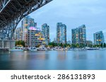 Stock photo granville bridge along false creek at night in vancouver bc vancouver is the third most populous 286131893