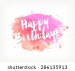 vector hand painted watercolor... | Shutterstock .eps vector #286135913
