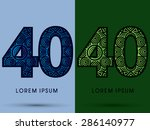 40  number  abstract  font ... | Shutterstock .eps vector #286140977