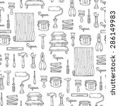 vector seamless pattern on the... | Shutterstock .eps vector #286149983