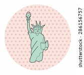 liberty statue theme elements | Shutterstock .eps vector #286156757