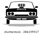 vector muscle car logo | Shutterstock .eps vector #286159517