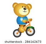 bear with three cycle | Shutterstock .eps vector #286162673