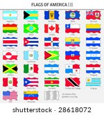 flags of all american countries ... | Shutterstock .eps vector #28618072