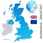 vector uk administrative map | Shutterstock .eps vector #286207307