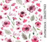 pattern color flowers... | Shutterstock . vector #286207463