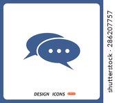 chat  messages. flat design... | Shutterstock .eps vector #286207757
