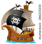 pirate ship topic image 1  ... | Shutterstock .eps vector #286223333