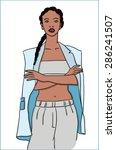 lady sports | Shutterstock .eps vector #286241507