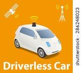 driverless car  autonomous... | Shutterstock .eps vector #286248023