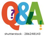 questions and answers symbol  ... | Shutterstock . vector #286248143