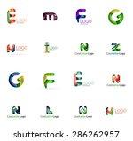set of new universal company... | Shutterstock .eps vector #286262957