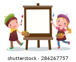 a vector illustration of cute... | Shutterstock .eps vector #286267757