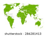 political map of the world.... | Shutterstock .eps vector #286281413