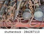 rustic object in shelf | Shutterstock . vector #286287113
